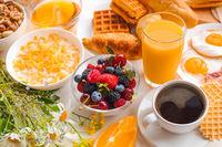 Healthy breakfast set
