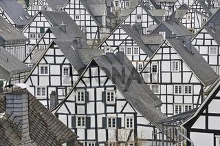 Historische Innenstadt, Alter Flecken mit Fachwerkhäusern, Freudenberg, Kreis Siegen-Wittgenstein, Siegerland, Nordrhein-Westfalen, Deutschland, Europa