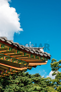 Namhansanseong Haenggung, Korean traditional roof eaves in Gwangju, Korea