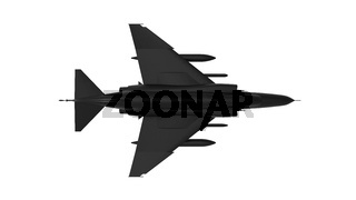 3D rendering of a fighter jet isolated on white background