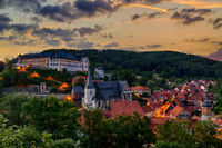 Schloss Stolberg Harz Abendstimmung
