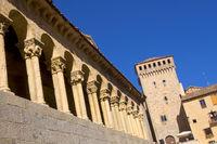 Romanesque Church of San Martín and Lozoya Tower, Torreón de Lozoya, Segovia, Spain
