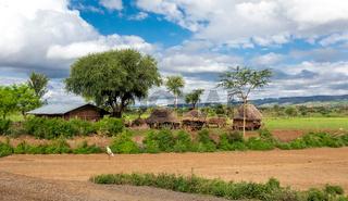 mountain landscape with farm, Ethiopia
