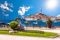 Rovinj. Beautiful historic town of Rovinj waterfront view