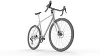 3D rendering of a racing bike bicycle isolated on white background