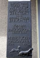 Memorial Plaque Hubert Josef Hausmann, Dasselstr, Cologne, Neustadt-Süd, NRW, Rhineland