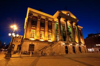 City Hall in Groningen city at night
