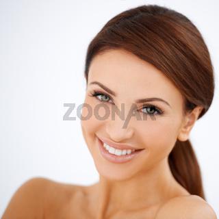 Smiling happy beautiful woman