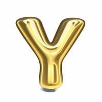 Golden font Letter Y 3D
