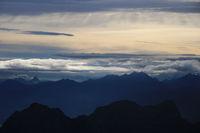 Sunrise scene seen from Brienzer Rothorn.
