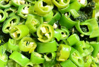 Chilli green slices for salad
