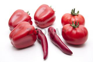 Rote Chilischote mit Paprika