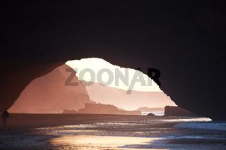 Arch on ocean
