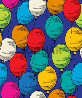 Party balloon seamless