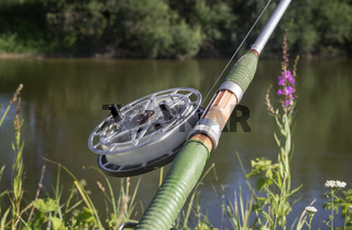 Fishing tackle for catching fish in the river.
