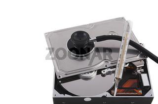 Festplatte mit Thermometer