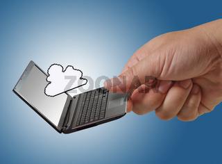 pixel cloud icon as concept