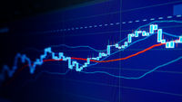 Flat trend - Stock market graphs and charts