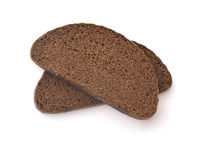 Top view of two rye bread slices