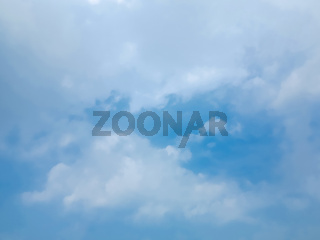Cloudy blue sky. Natural view