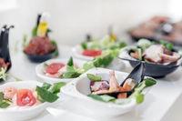 Light seafood snacks
