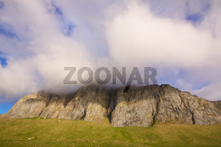 Cloudy cliffs