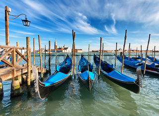 Gondolas on Grand Canal