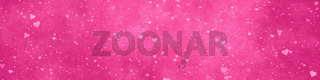 wide modern pink hearts background banner