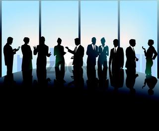 Treffen am Konferenztisch.eps