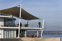 Restaurant at the port of Portimao