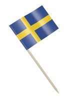 Swedish flag toothpick