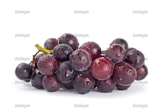 Isolated grapes with drops