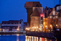 Old Town in City of Gdansk at Night