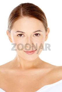 Beautiful natural young woman