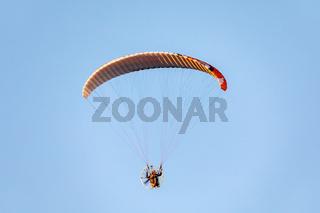 Powered paragliding flight