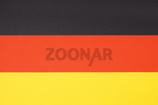 flag of germany made from paper in black red and yellow or gold