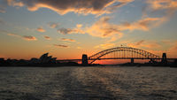 Sydney, 10 April 2016. Sunset in Sydney.