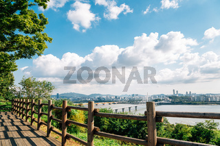 Panoramic view of Seoul city from Sky park in Korea