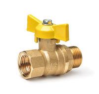 Golden butterfly handle  gas ball valve