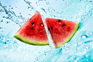 watermelon and water