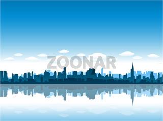 New york cityscape background