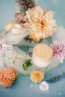 Fresh flowers and cosmetic composition