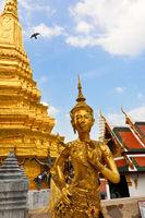 Golden Buddhist memorial