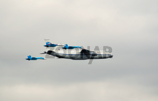 An-124 with fighter escort