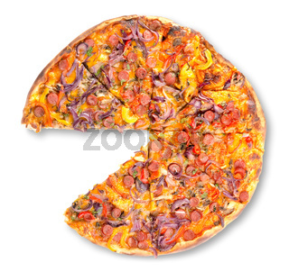 Pepperoni pizza isolated