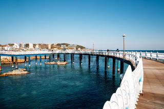 Samsa Marine Walkway and sea in Yeongdeok, Korea