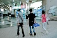 walking shopper people on the street