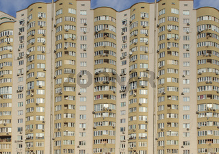 Apartment building. Modern architecture. Stylish living block of flats