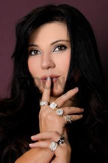 Beautiful woman wearing jewellery