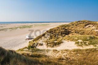 Landschaft in den Dünen in Norddorf auf der Insel Amrum